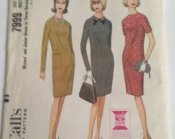 30% OFF SALE 1960s Evening Dress Pattern McCall's 7999 Size 14 Bust 34 Uncut FF