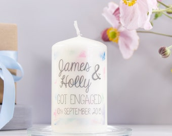 Personalised 'Engagement' Watercolour Candle