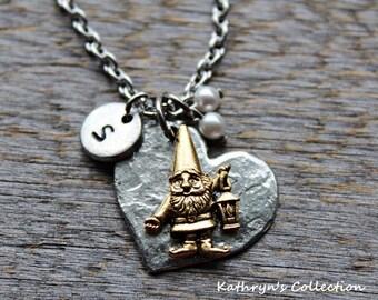 Gnome Necklace, Gnome Jewelry, Seven Dwarves, Garden Gnome Gift
