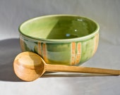 Soup Bowl with Hand Carved Cherry Spoon