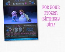 Frozen Birthday Invitation, Frozen Birthday Party, Frozen Invitation, Frozen Birthday Invitation, Disney Invitation, Anna & Elsa as Kids
