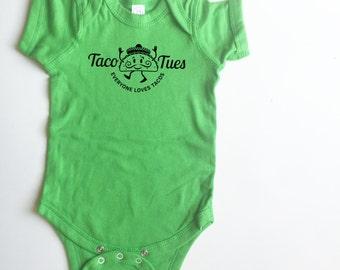 Taco Tuesday baby shirt.  Everyone loves tacos!