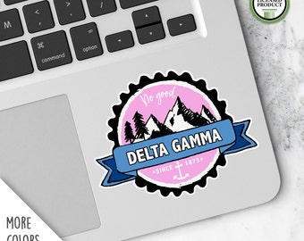 Delta Gamma DG | Small Badge Decal | Sorority Big Little Reveal Gift | Official Licensed Product | DG-BD