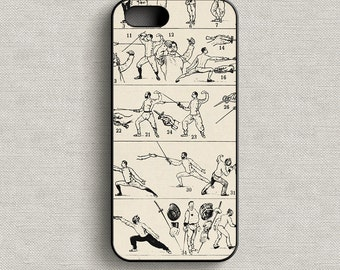 Vintage Fencing Phone Case iPhone 5 5C 6 6+ 7 7+