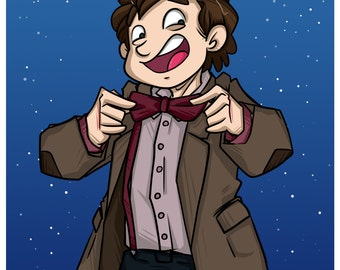 Doctor Who - Eleventh Doctor - Fanart print
