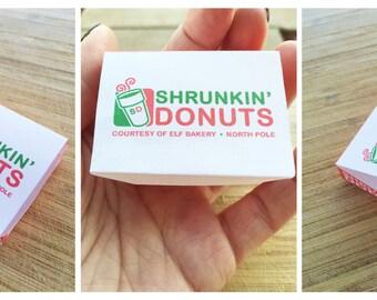 Christmas Elf DIY Foldable Mini Donut Box