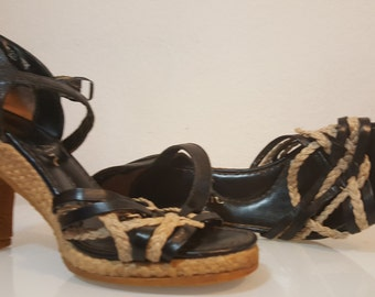 FREE  SHIPPING  1970 Wedge Platform Sandals