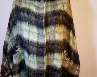 FREE  SHIPPING  Vintage Woman Mohair Cape