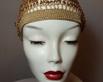 FREE  SHIPPING    Vintage Sequin Beret