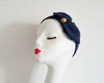 WINTER SALE 50% OFF Headband 1930's 1940's Vintage Repro Swing Flapper
