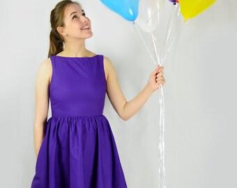 Plum Violet Dress