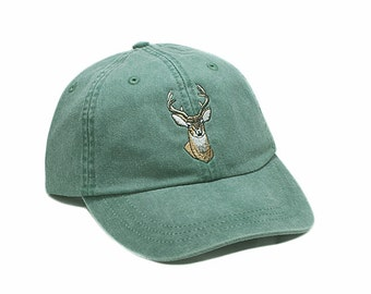 Deer embroidered hat, baseball cap, wildlife hat, buck cap, hunting, wildlife lover gift, whitetail deer, dad hat, mom cap, father's day