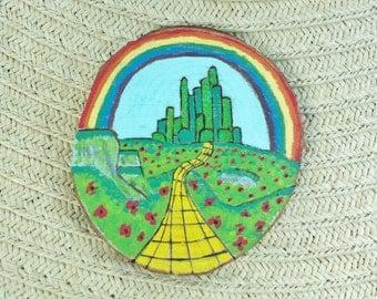 Emerald City Wood Slice Magnet