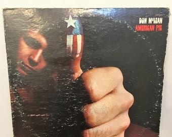 1971 American Pie Vinyl LP Album by Don McLean, Vintage American Pie LP, Don McLean American Pie Record Album, American Pie Vinyl,Don McLean