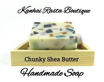 Chunky Shea Butter Handmade Soap   Bar Soap