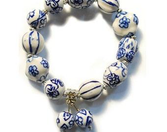 Bracelet Porcelain beads (an01)