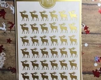 reindeer christmas envelope seals planner stickers antler deer