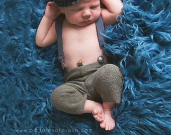 Smoky Blue Curly Mongolian Faux Fur,  Newborn Baby Photo Prop, Posing Fabric, Fuzzy Layering Blanket.