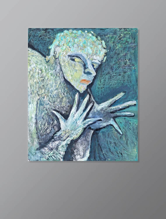Wall decor male portrait color hands by petrldinpaintings for Masculine wall decor