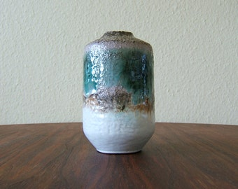 Vintage Vase from the 60s by Strehla - East German Pottery - GDR - VEB - Mid Century Modern - Fat Lava - 1403