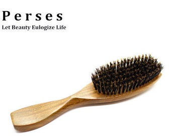 Combined Boar Bristle and Comb Hair Brush