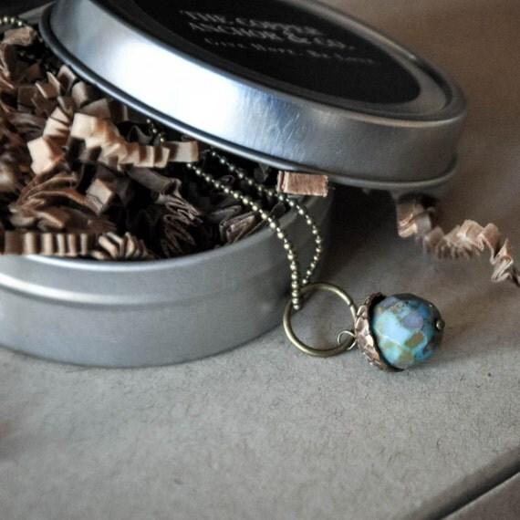 Acorn Necklace, Acorn Charm, Acorn Jewelry, Acorn Pendant, Fire Polished Acorn, Little Acorn Necklace, Tiny Acorn Jewelry, The Copper Anchor