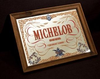 Michelob Bar Mirror Beer Anheuser Busch Sign Decorative