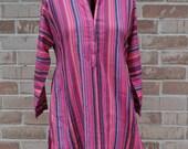 Striped Pattern Vintage Tunic, Ethnic Top, Indian dress, Hippie shirt, Boho clothing, Gypsy clothing, Tribal shirt, Festival top