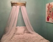 Bed Canopy/Crown Canopy/Nursery Decor/Bedroom Canopy/Baby Shower/Shabby Chic/Glam/Teen Room/Wall Decor/Royal/Crown Wall Decor/Little Girls/