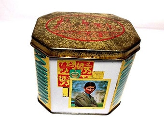 The Prince of Wales, 1969 Investiture, Royal Tin, Hinged Lid, Prince Charles, Caernarvon Castle, Welsh Dragon, Duke of Cornwall, Ich Dien