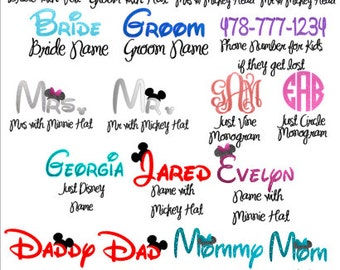 Magic Band Names & Monograms