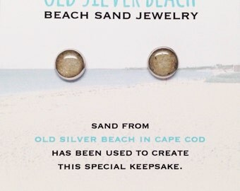 Old Silver Beach Sand Jewelry, Cape Cod Sand Jewelry, Beach Sand Jewelry, Nautical Style Bohemian Jewelry Travel Souvenir Gift Falmouth MA