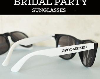 Groomsmen Sunglasses Groom Sunglasses Bachelor Party Gifts Ring Bearer Sunglasses Ring Security Groomsmen Gift (EB3121)  SET of 6 SUNGLASSES