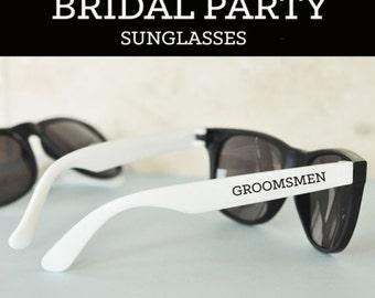 Groomsman Gift Groomsmen Gifts Ideas Bachelor Party Favors Groomsmen Glasses Team Groom (EB3121)  SET of 6 SUNGLASSES