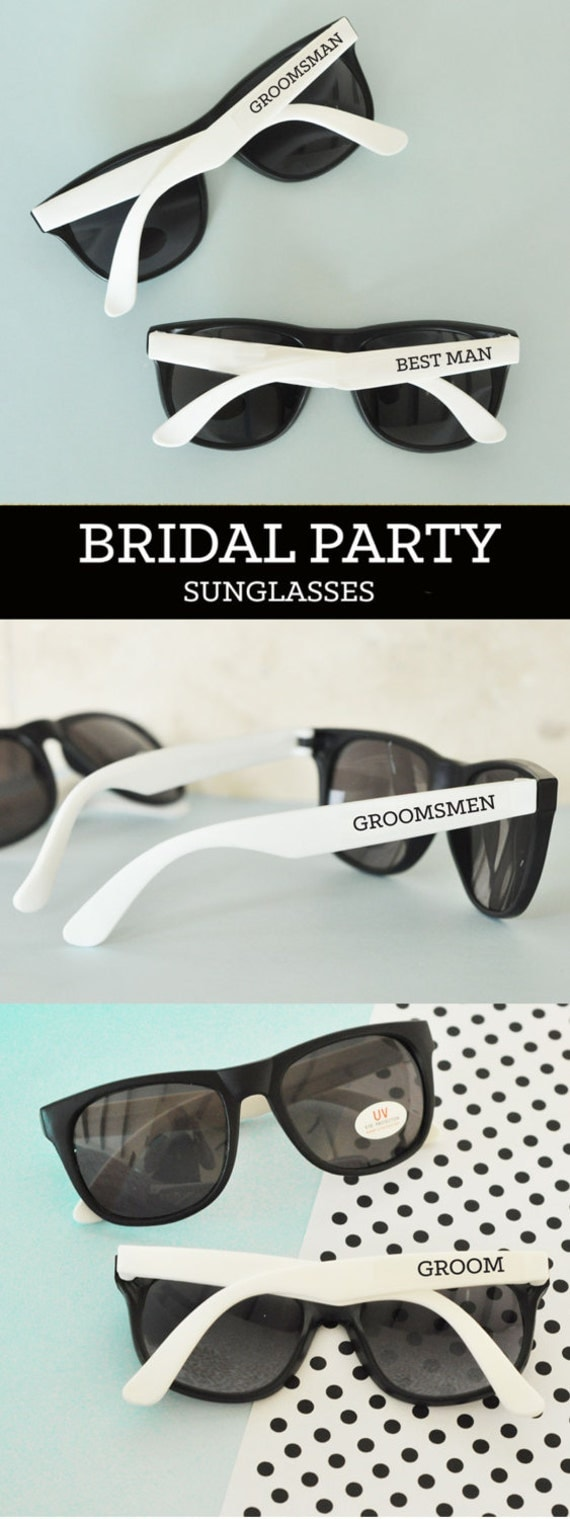 Groomsmen Sunglasses Groom Sunglasses Bachelor Party Gifts Ring ...