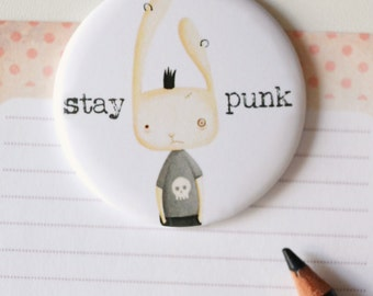 Illustrated Magnet - Magnetic Fridge illustrations, punk rabbit