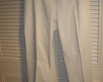 Pants 16, Ralph Lauren Sparkling White Cotton Pants SUMMER STAPLE ! Size 16