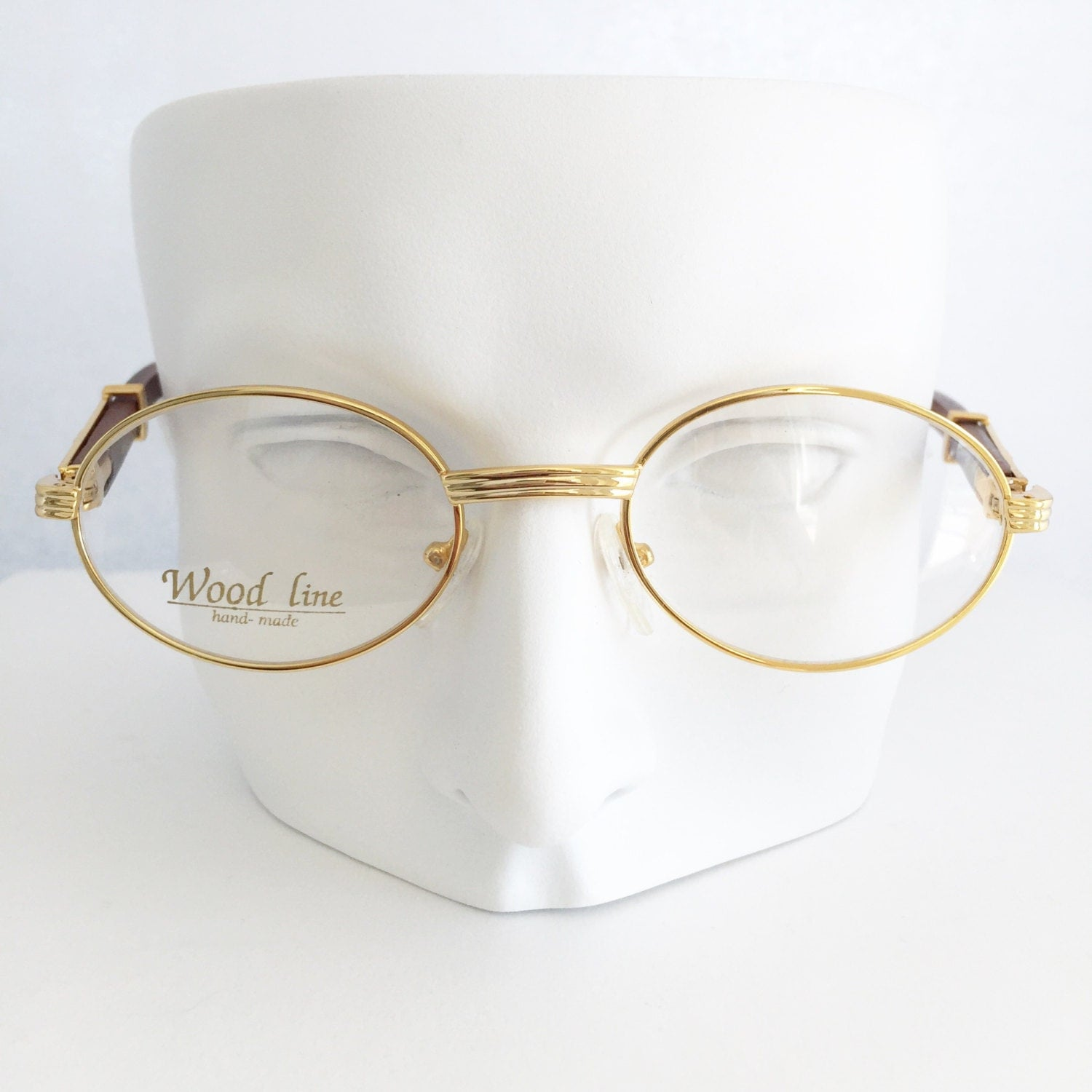 cartier glasses gold wood eyewear gold plated