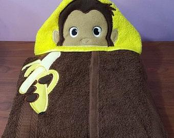 Curious George Hooded Towel