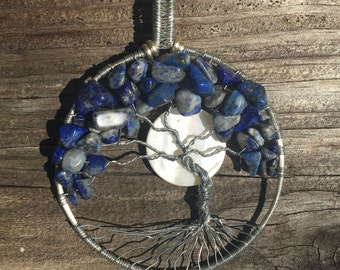 Lapis Tree of Life with Moon