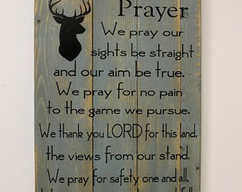 A Hunter's Prayer, rustic wooden sign, pallet style sign, hunting sign, man cave decor