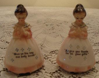 Enesco Prayer Ladies Salt & Pepper Shakers