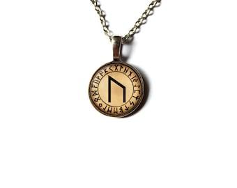 Rune pendant Viking necklace Ur jewelry NWR2