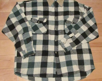 Large Cotton Camping Shirt, Plaid Shirt, Lumberjack Shirt, Hiking Shirt, Outdoors Shirt, Casual Shirt, 100% Cotton, Extra Large