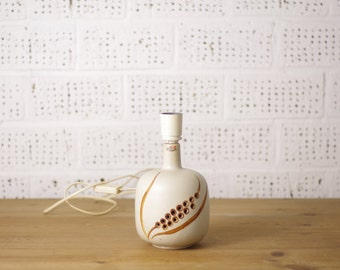 Axella, Denmark, vintage stoneware table lamp base, with organic hole pattern.