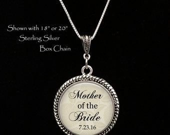 MOTHER of the BRIDE - Gift for Mother of the Bride - Mother of the bride necklace - personalized gift for Mother of the Bride - from bride