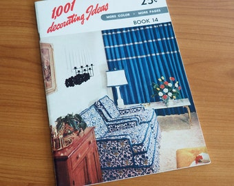 1001 Decorating Ideas Book 14, 1957 / Interior Decorating Magazine / Vintage 1950s Decor, 1950s Style, Mid Century Interior Design