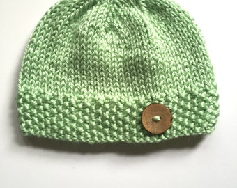 Cute as a Button Baby Hat 0-3 months