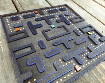 Laser Cut Layerd Wooden Gameing Pacman Plaque Art