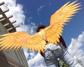 Seraphim Cosplay, Fire Wings, Flame Wings, Custom Cosplay, Pick Your Colors - Made to Order